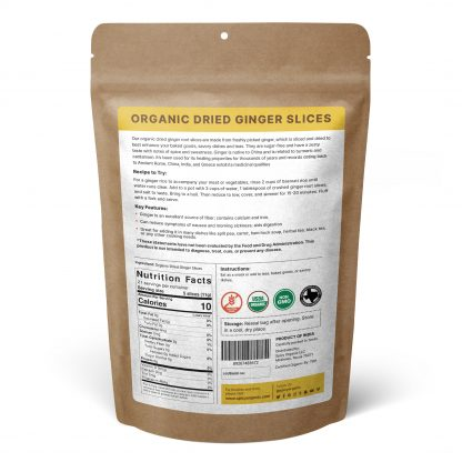 Organic Dried Ginger Slices 8oz